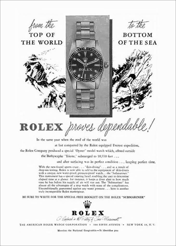 Rolex Top to Bottom ad