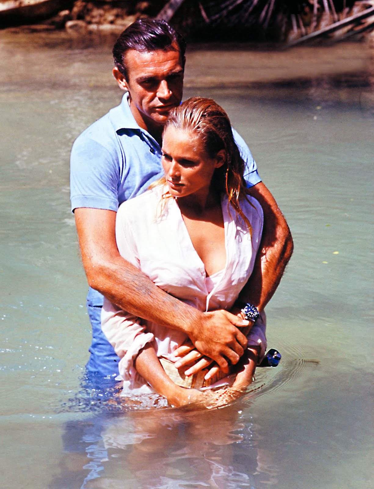 Sean-Connery-and-Ursula-Andres-Dr-No-Rolex-Submariner-Big-Crown