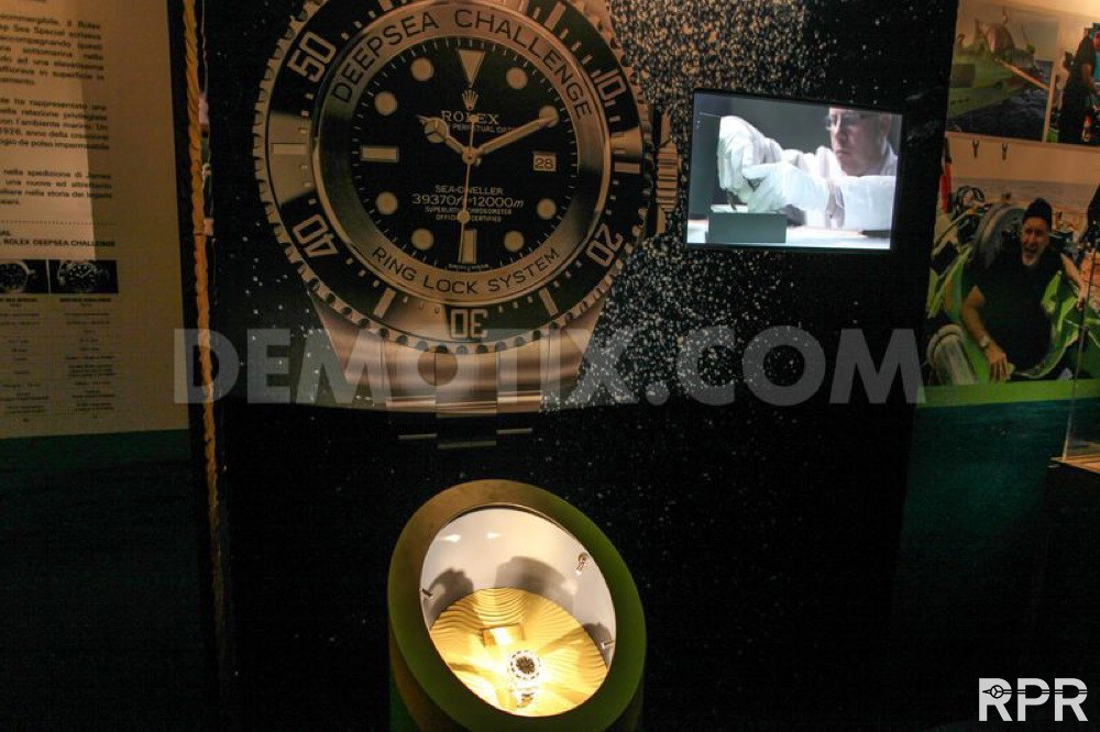 Rolex Deep Sea Challenge for the first time on Exposition at Salon Nautico in Genova Italia