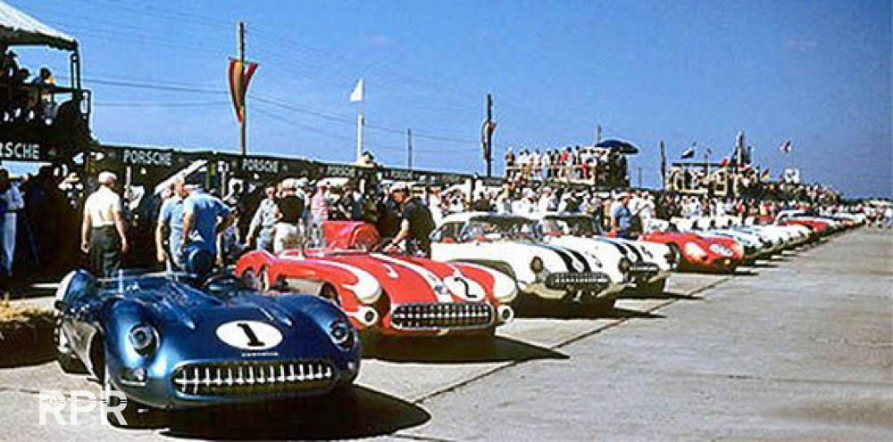 RPR_1957 Sebring Hopkins Corvettes Cars numbers 1 2 3