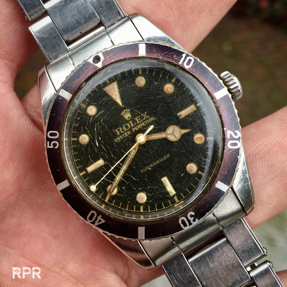 Rolex 6205 Submariner with patina at its Best!